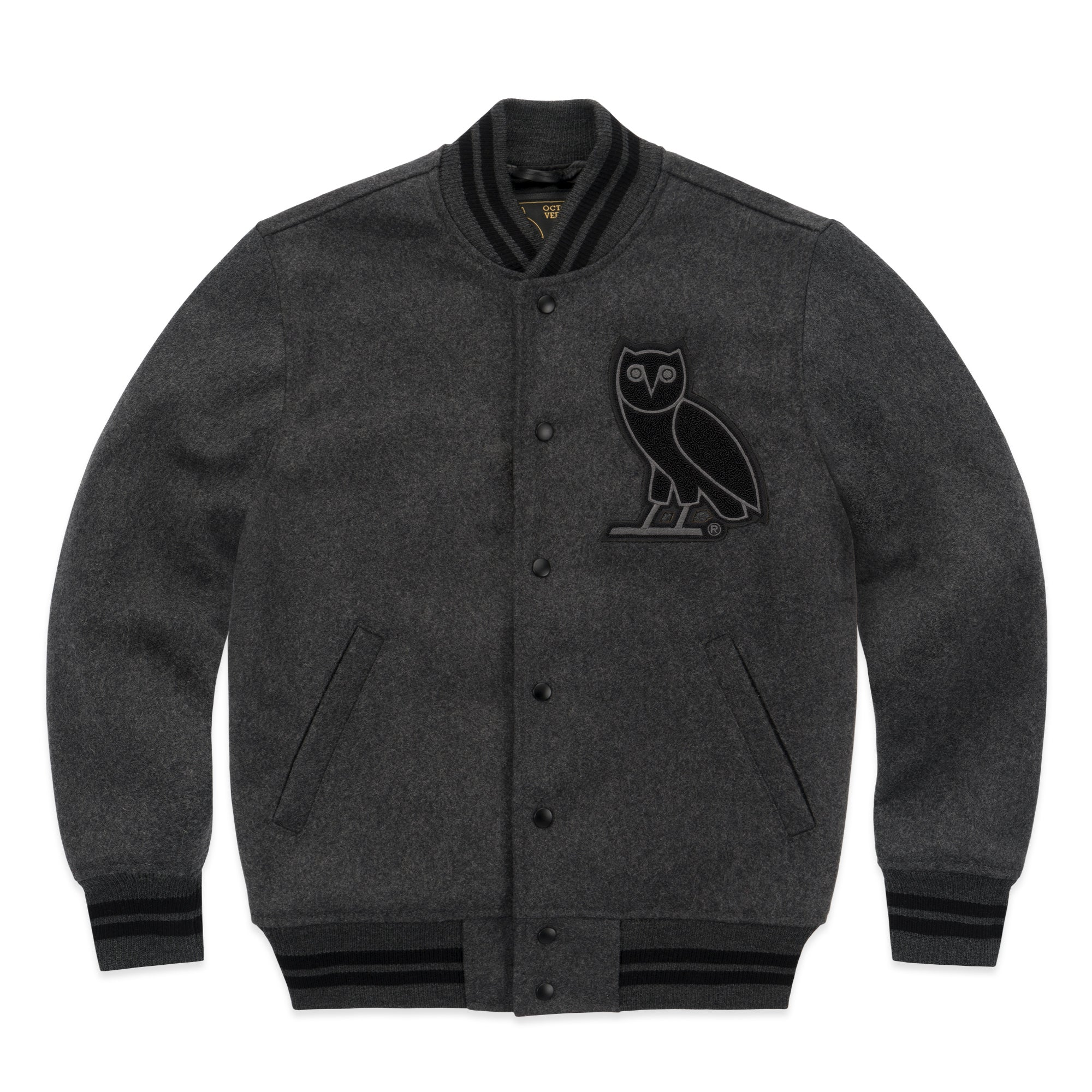 OVO TEAM JACKET - CHARCOAL
