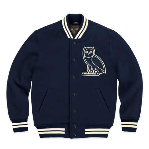 OVO TEAM JACKET - NAVY