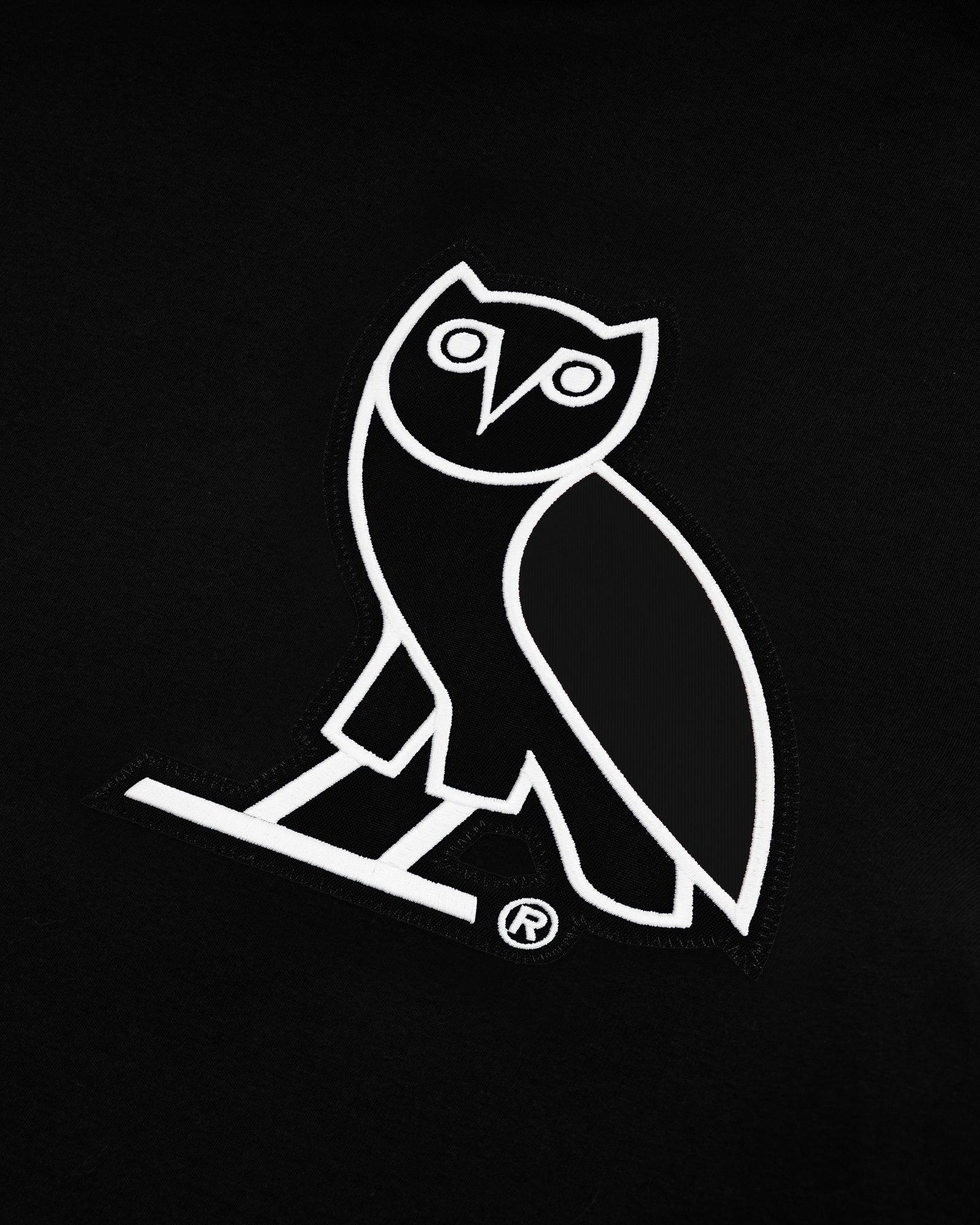 OVO FRANCHISE DOUBLE KNIT HOODIE - BLACK IMAGE #3