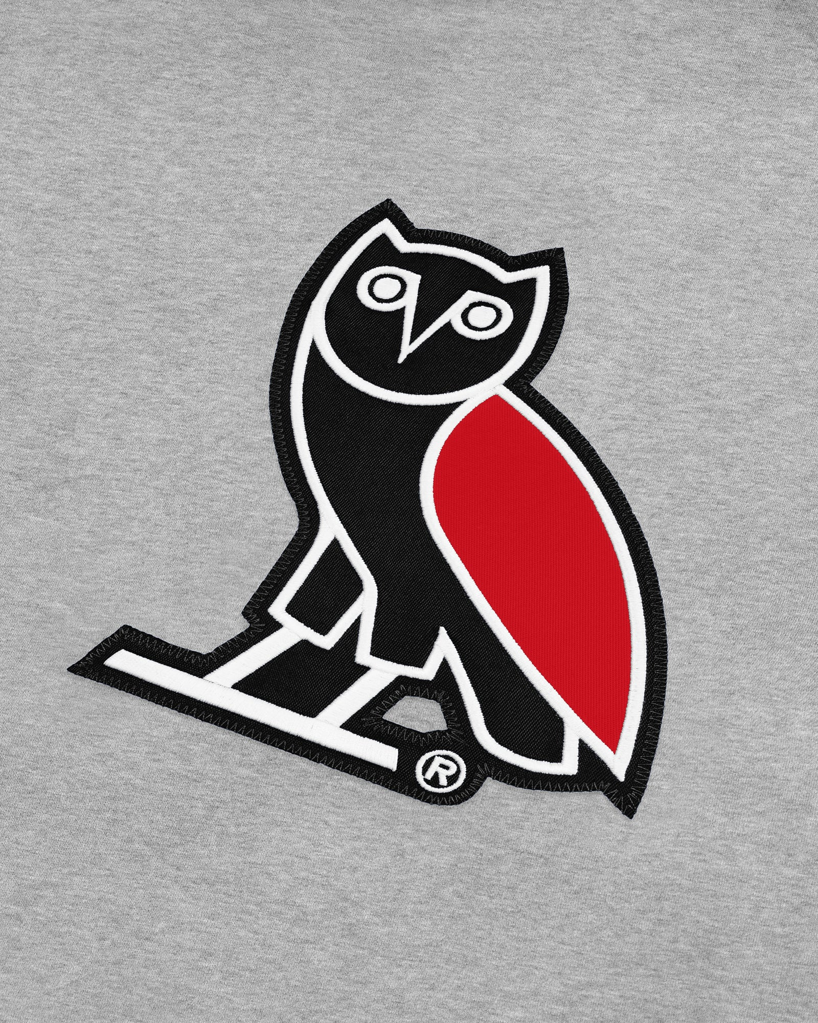 OVO FRANCHISE DOUBLE KNIT HOODIE - HEATHER GREY IMAGE #3