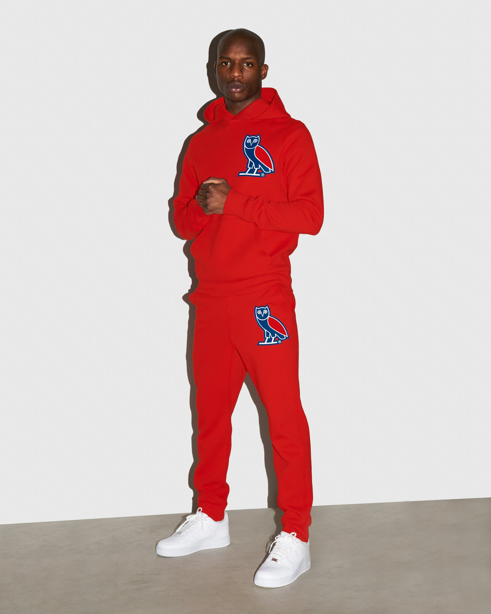 OVO FRANCHISE DOUBLE KNIT SWEATPANT - RED