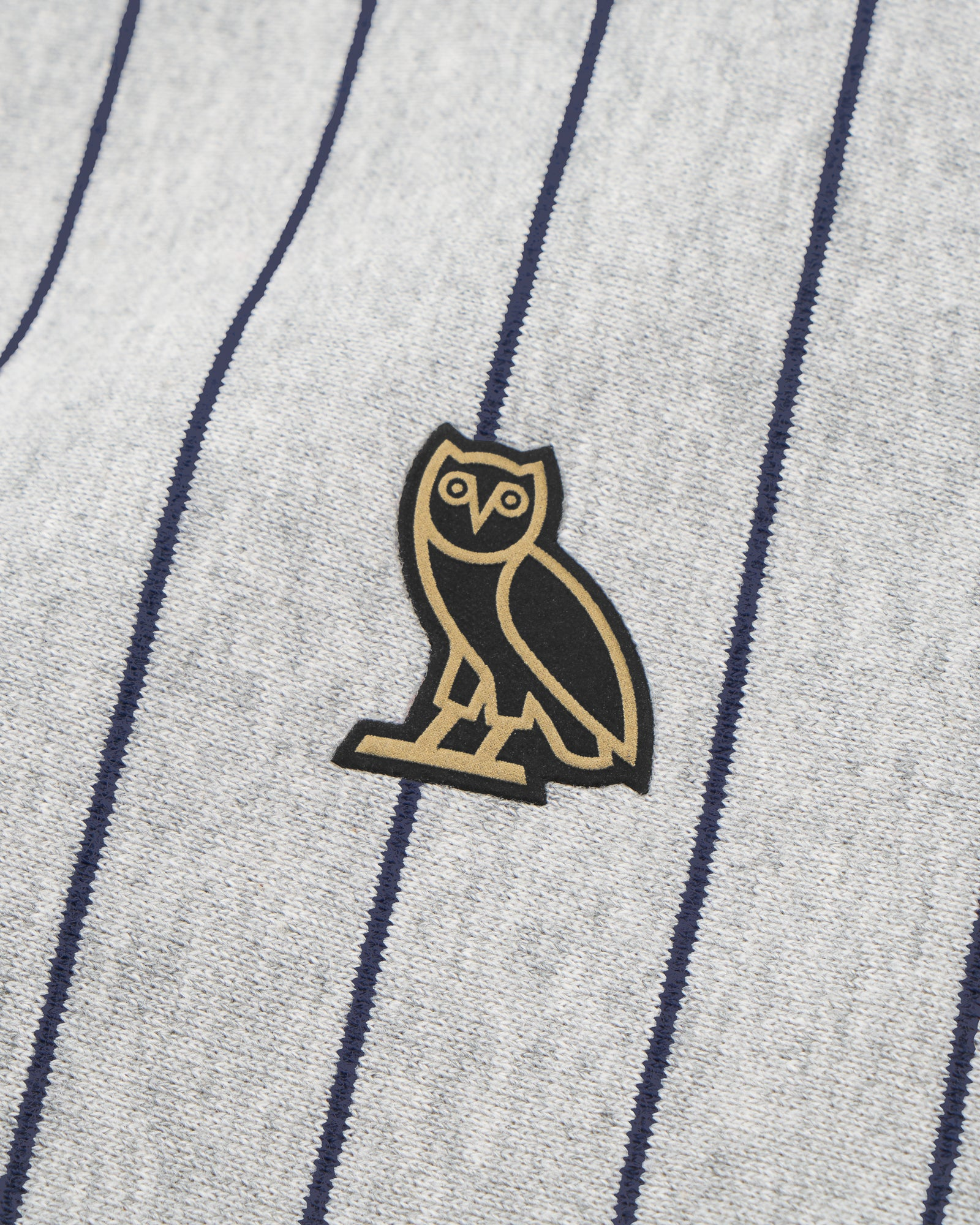 OVO FAMILIA PINSTRIPE CREWNECK - HEATHER GREY