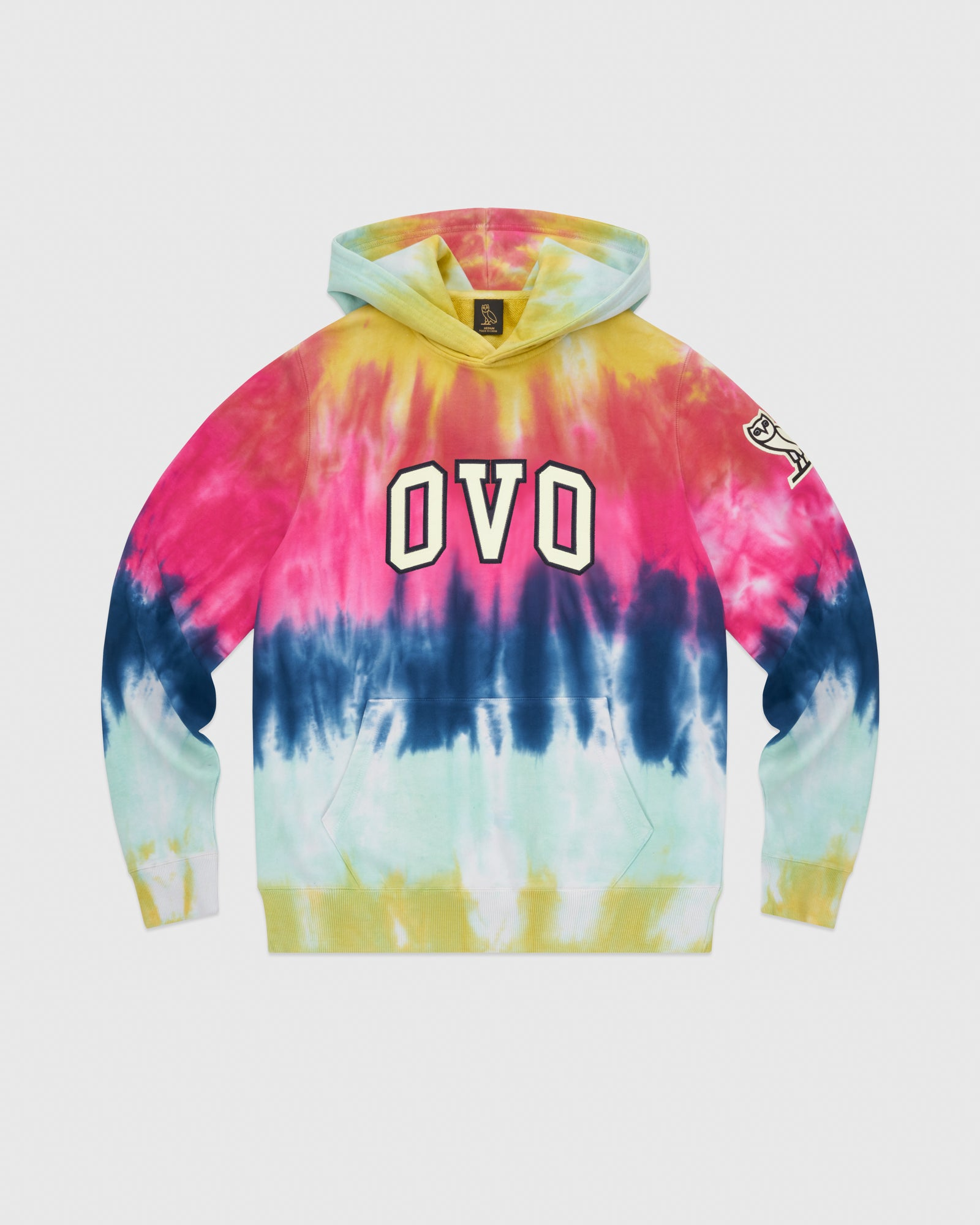 TIE DYE ARCH HOODIE - MULTI COLOUR IMAGE #1