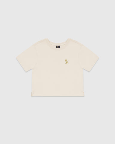 WOMEN'S OVO OWL T-SHIRT - SNOW