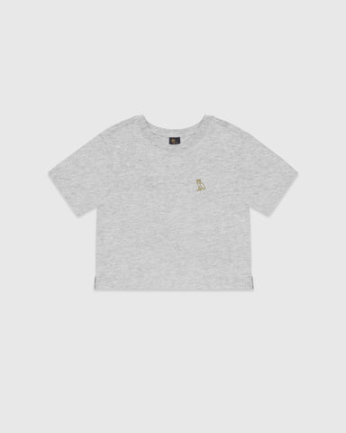 WOMEN'S OVO OWL T-SHIRT - HEATHER GREY