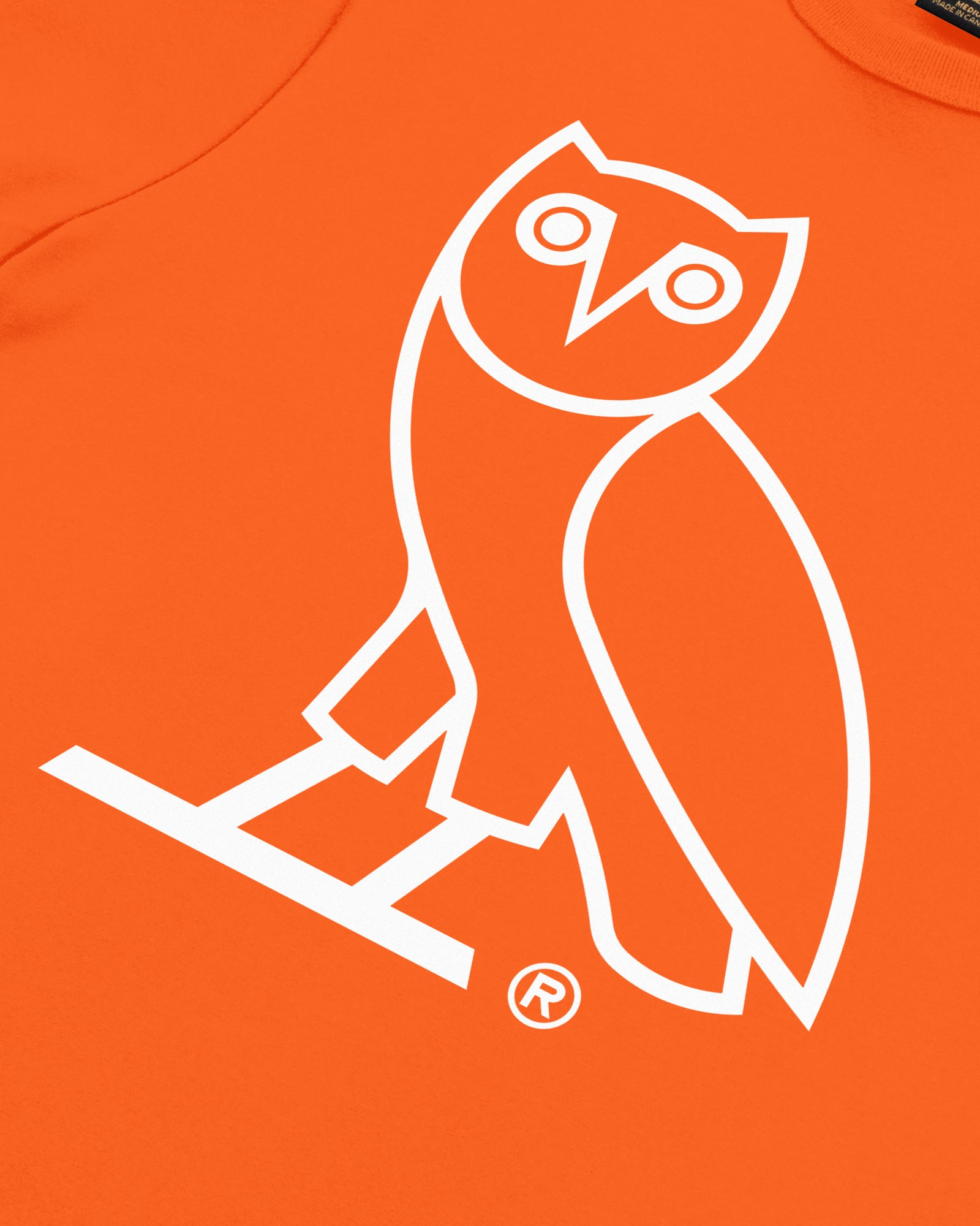 WOMEN'S OVO OWL T-SHIRT - ORANGE IMAGE #3