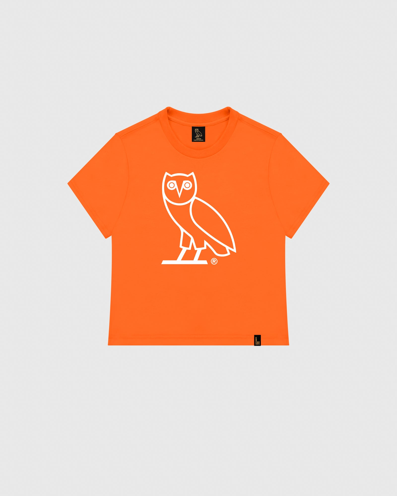 WOMEN'S OVO OWL T-SHIRT - ORANGE IMAGE #1