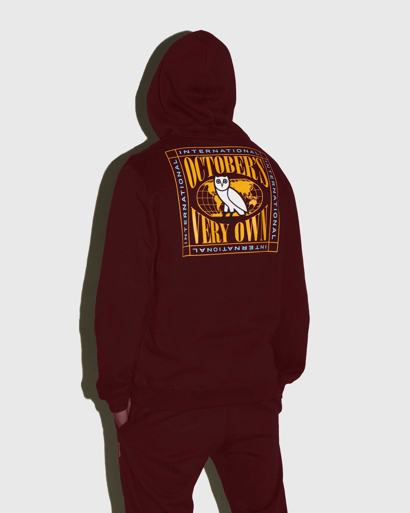 WORLD TOUR HOODIE - BURGUNDY IMAGE #3