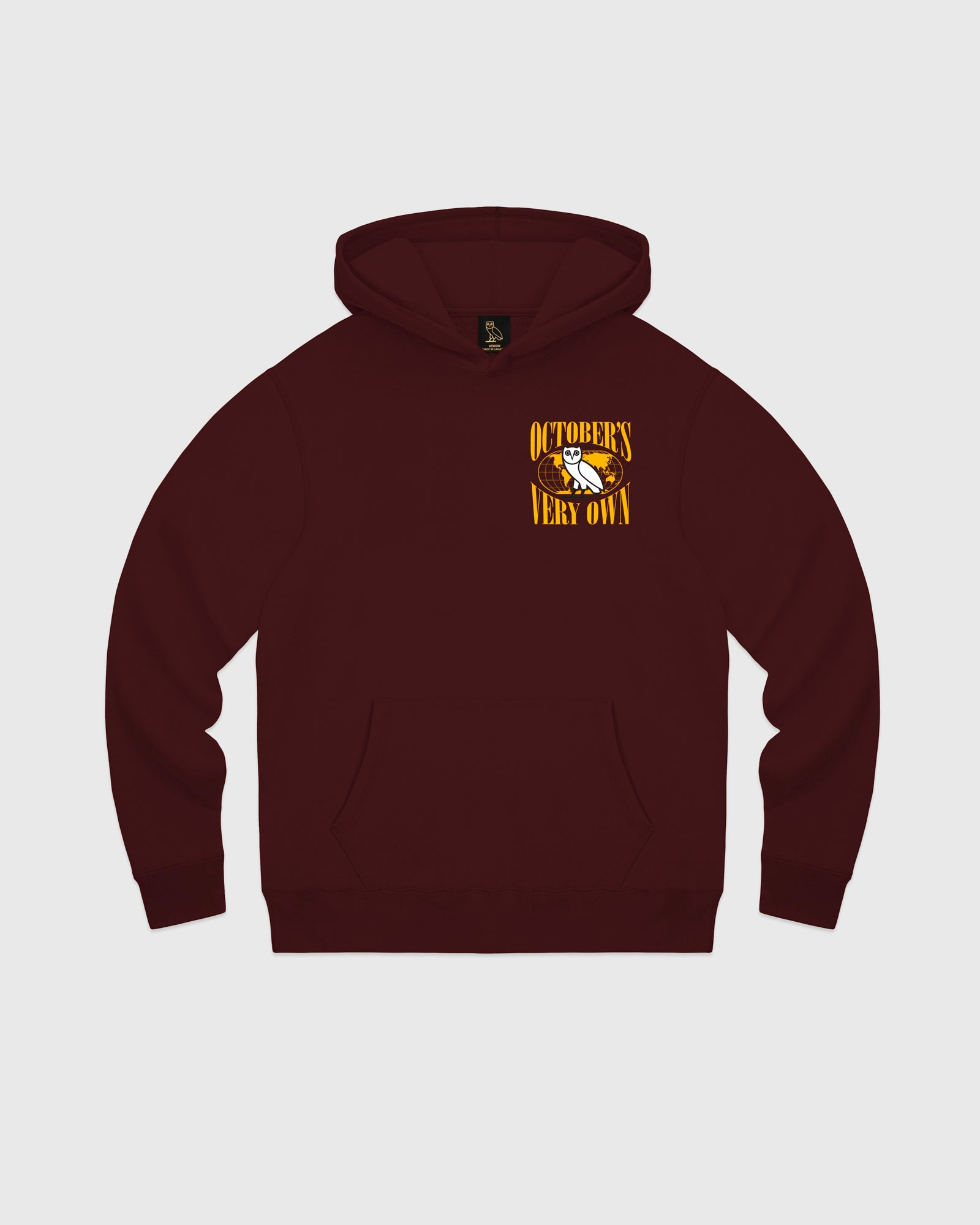 WORLD TOUR HOODIE - BURGUNDY IMAGE #1