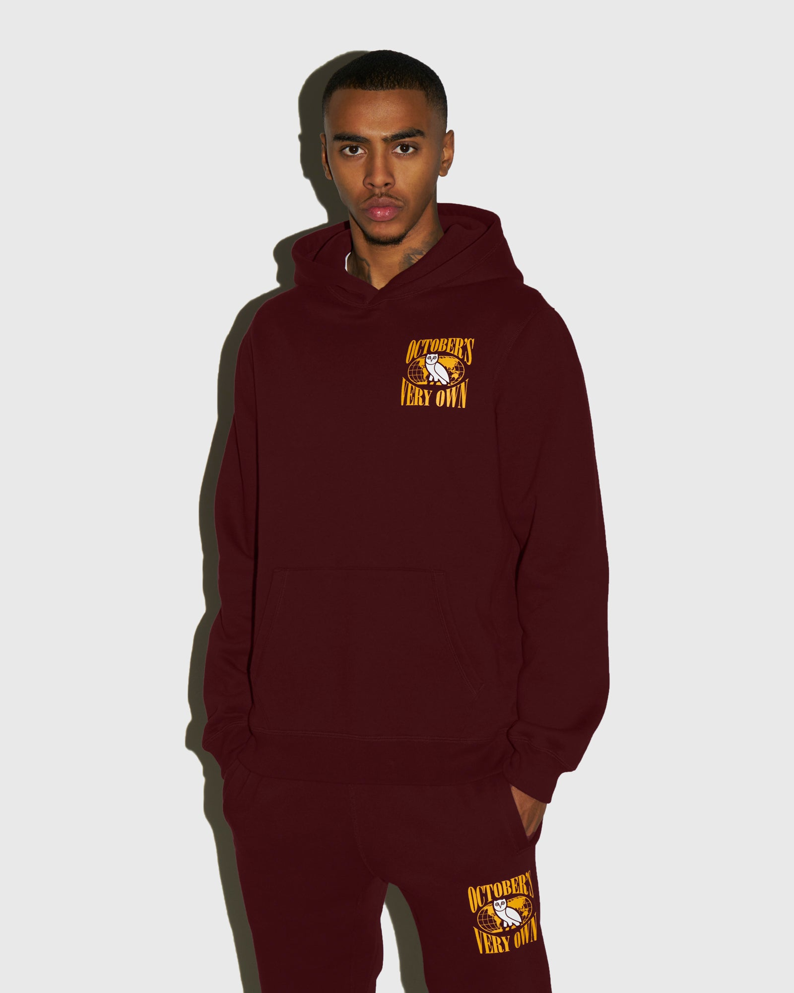 WORLD TOUR HOODIE - BURGUNDY IMAGE #2