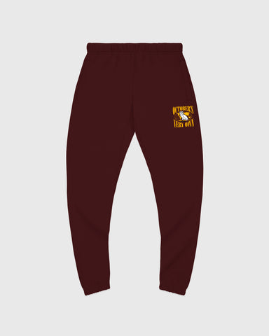 WORLD TOUR SWEATPANT - BURGUNDY