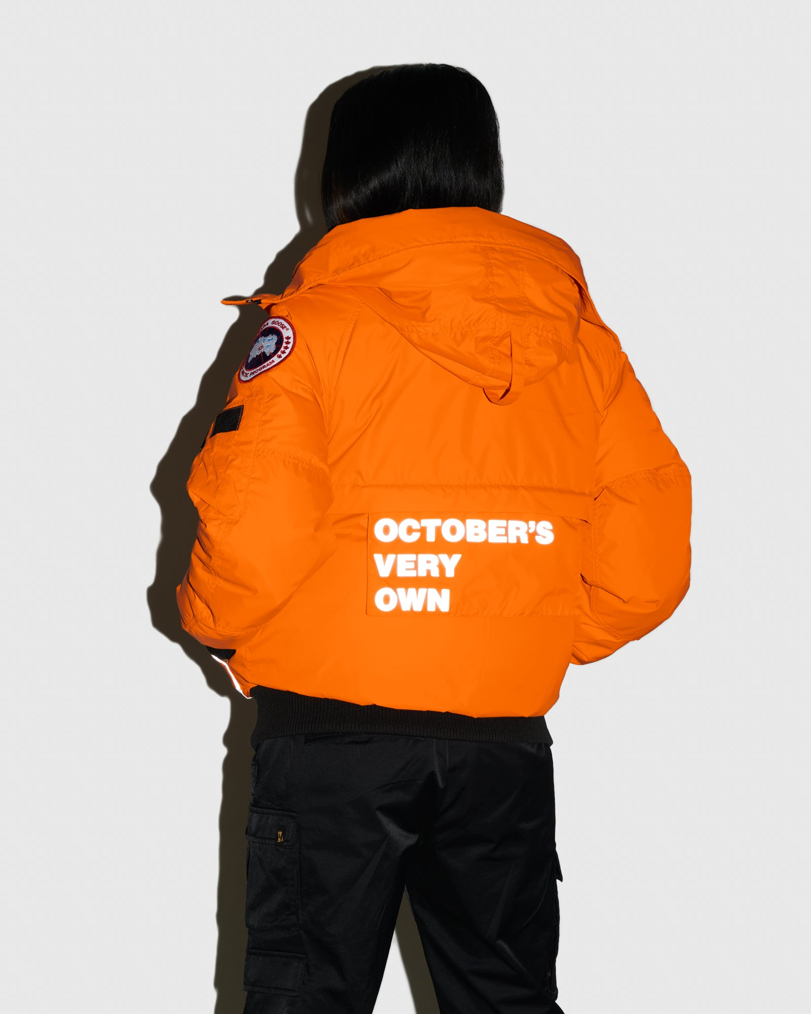 OVO X CANADA GOOSE WOMEN'S CHILLIWACK BOMBER - ORANGE IMAGE #3