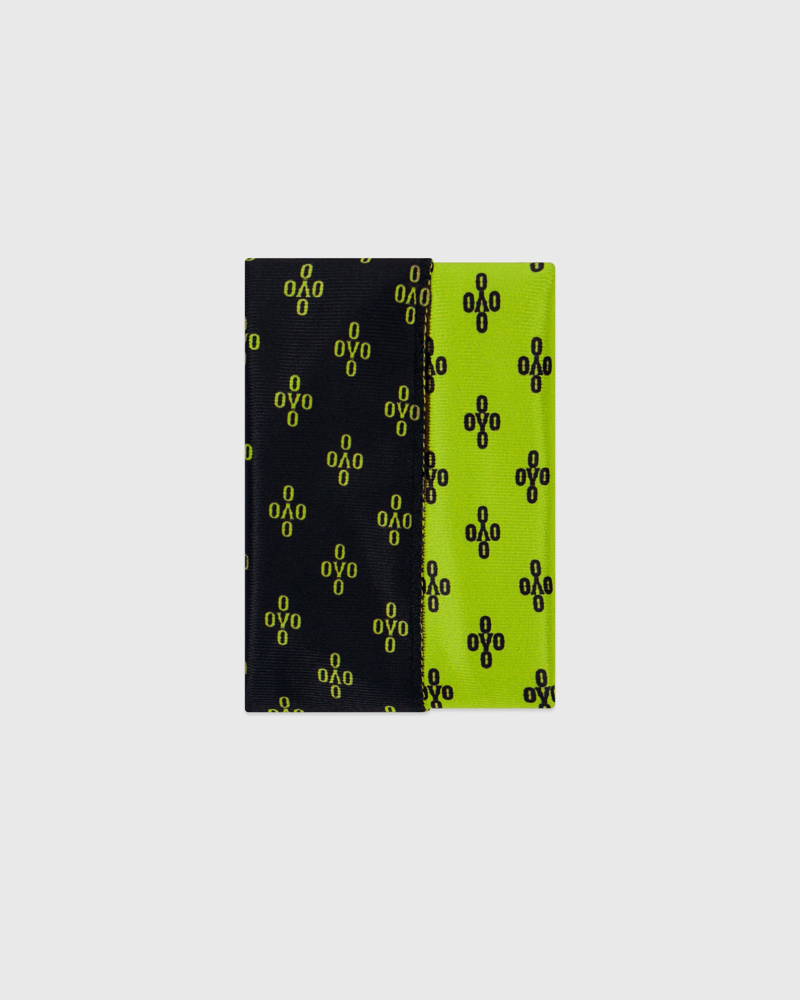 OVO x SO MANY WAVES™ MONOGRAM DURAG - BLACK/NEON GREEN IMAGE #7