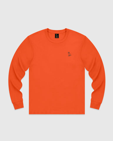 OWL LONGSLEEVE T-SHIRT - ORANGE