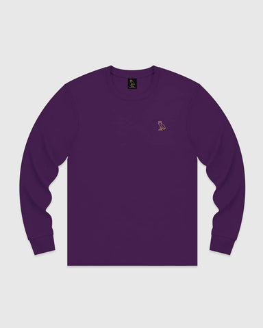 OWL LONGSLEEVE T-SHIRT - PURPLE