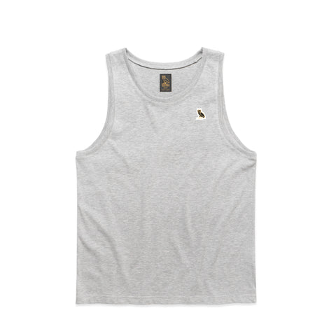 OWL LOGO PATCH TANK TOP - GREY