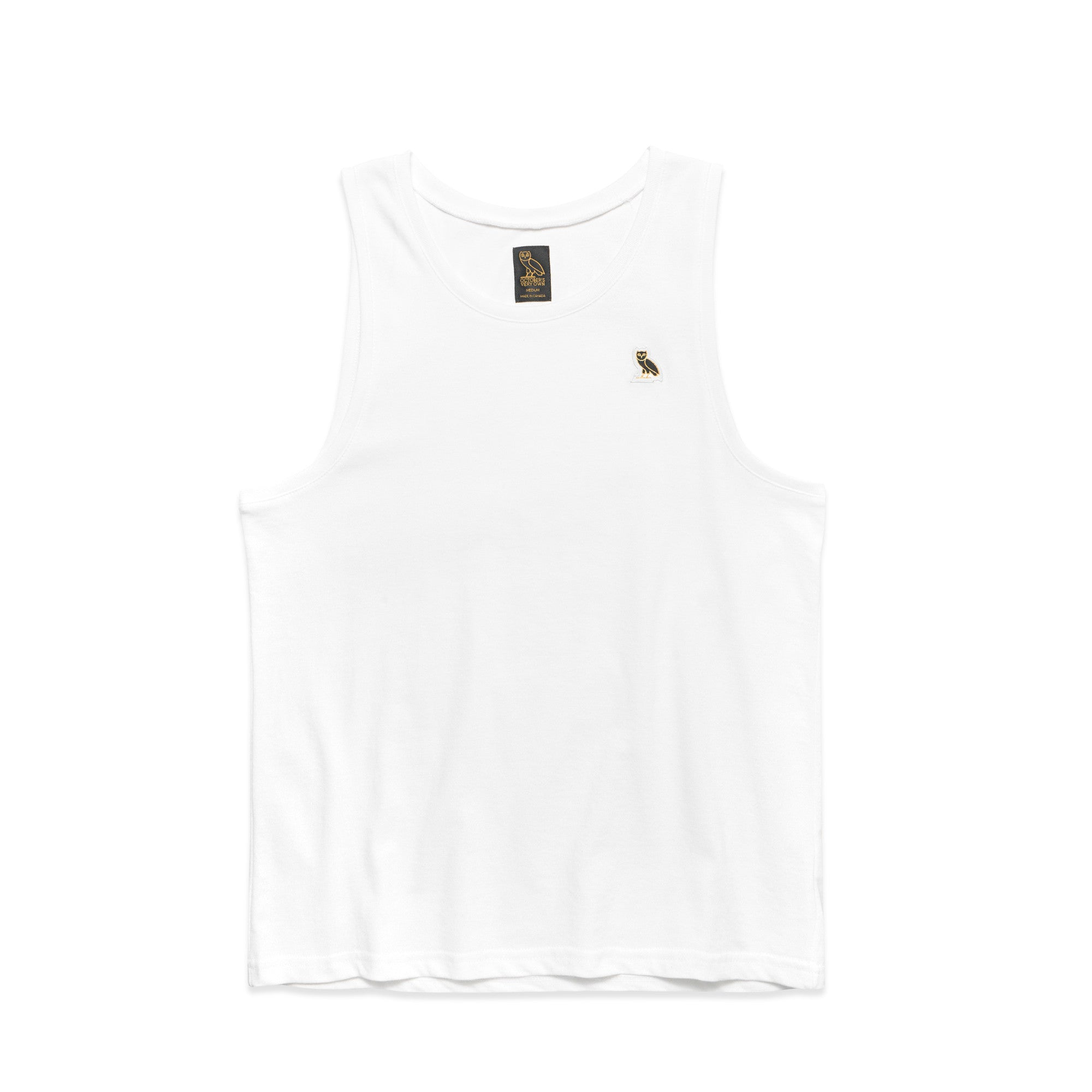 OWL LOGO PATCH TANK TOP - WHITE