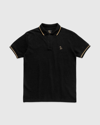 OVO ESSENTIALS POLO - BLACK