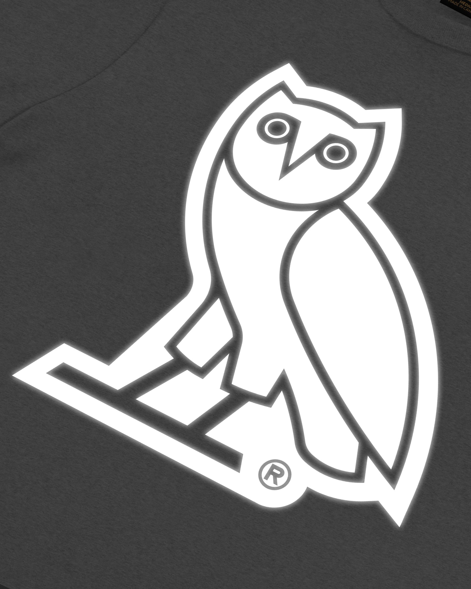 REFLECTIVE OWL T-SHIRT - HEATHER GREY