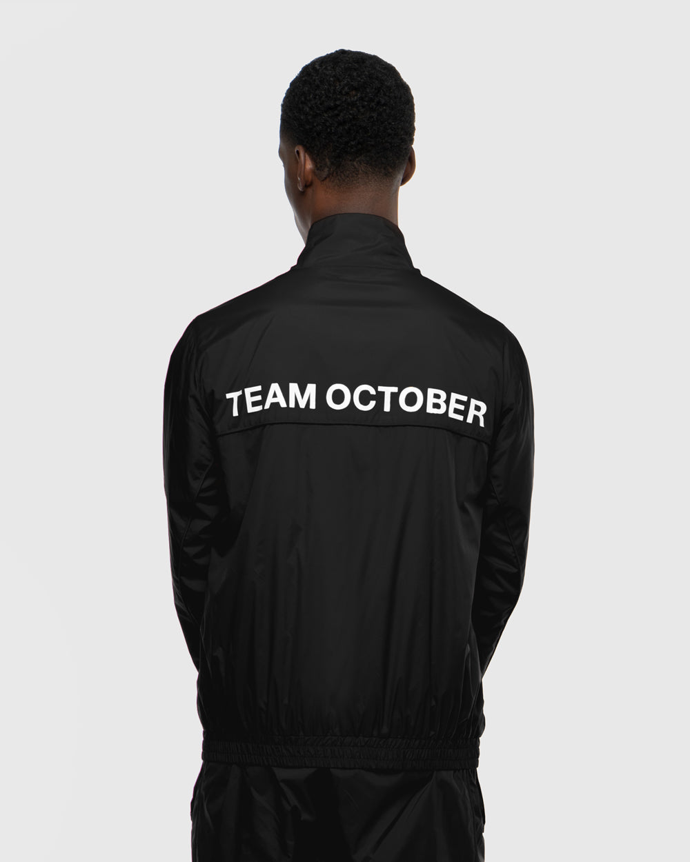 OVO TEAM OCTOBER WINDBREAKER JACKET - BLACK