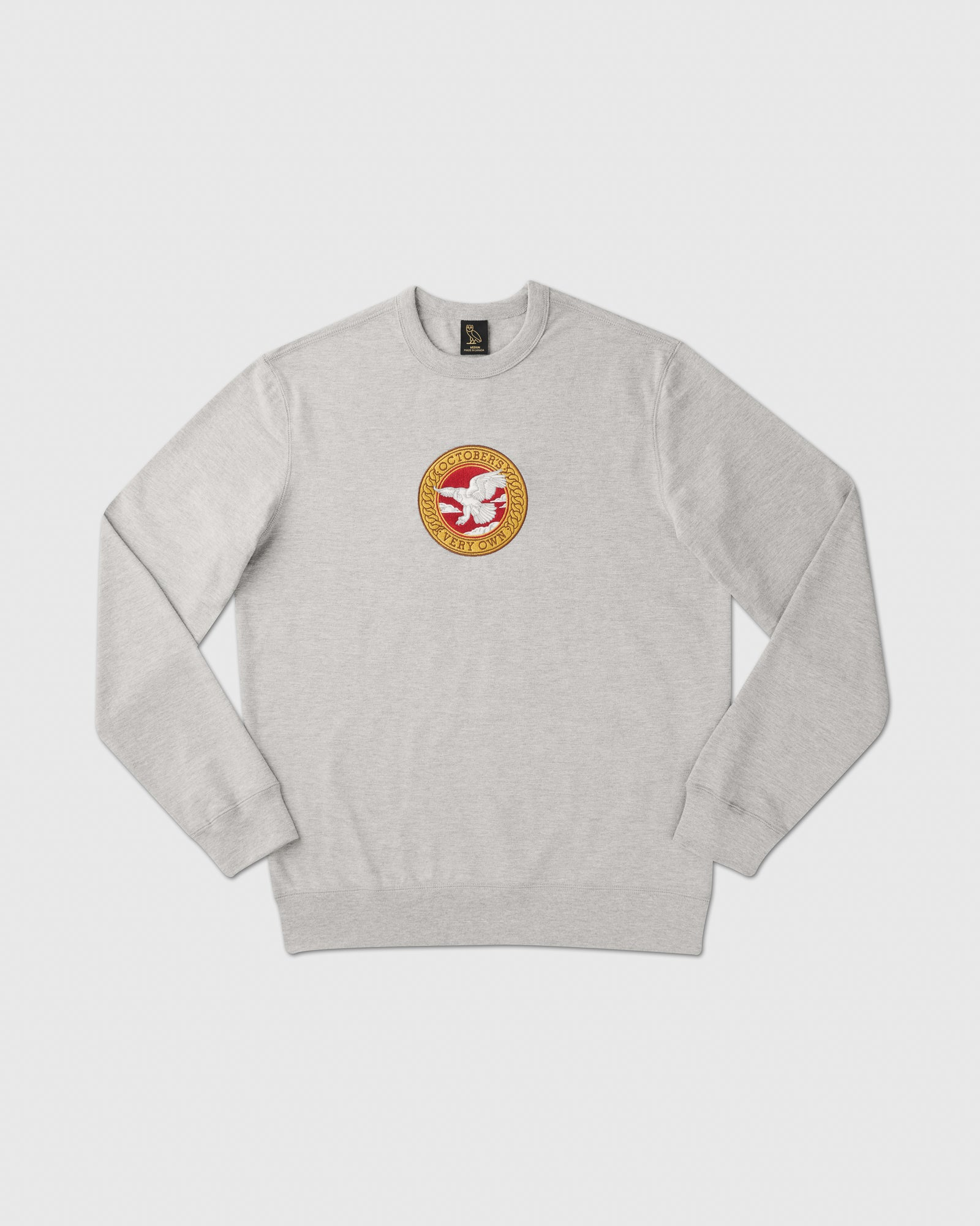 BIRD OF PREY EMBLEM CREWNECK - HEATHER GREY IMAGE #1
