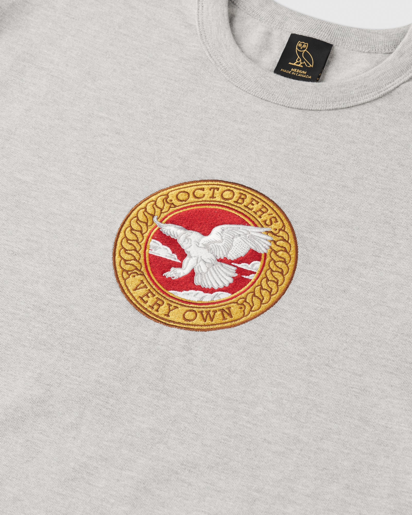 BIRD OF PREY EMBLEM CREWNECK - HEATHER GREY IMAGE #2