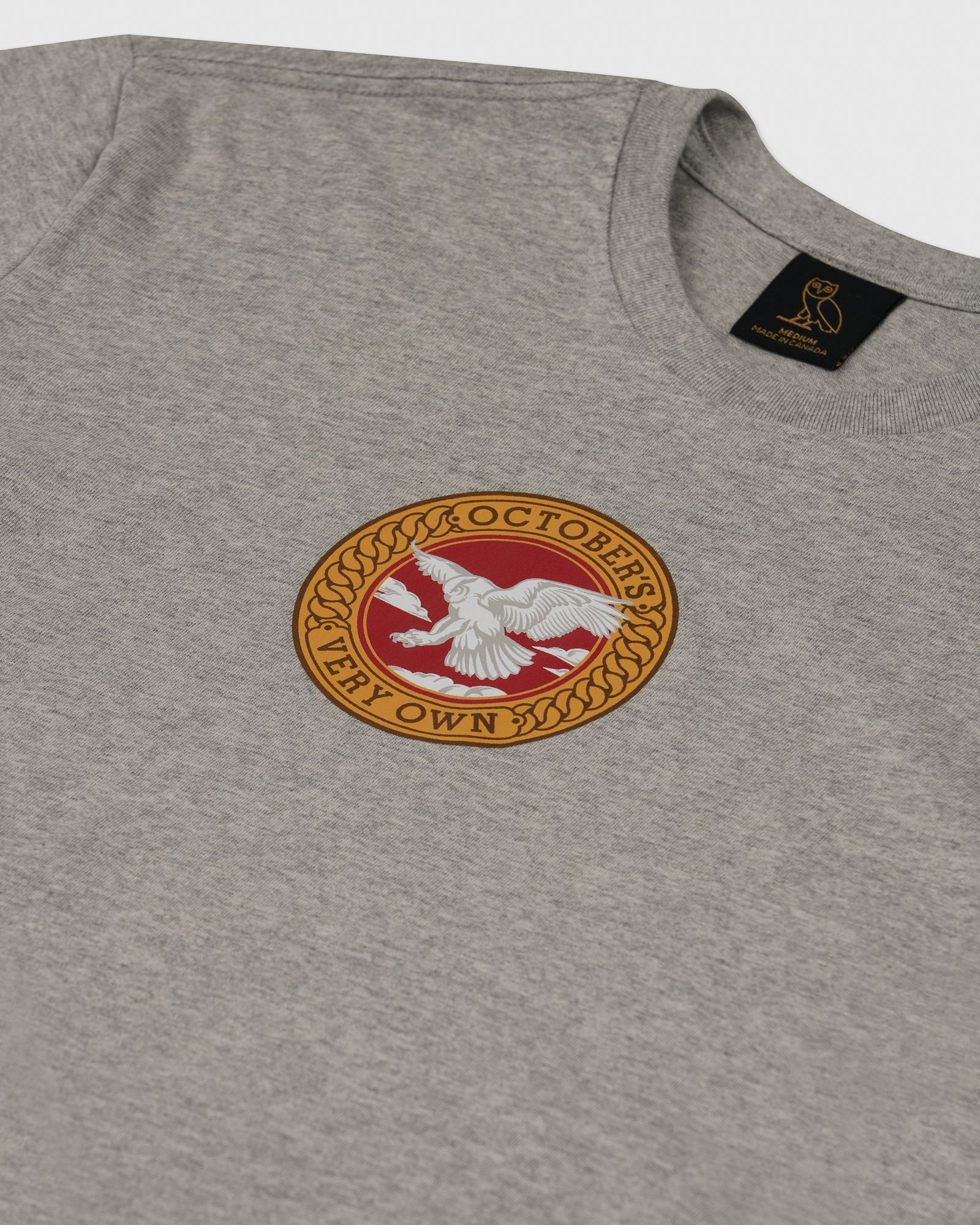 BIRD OF PREY EMBLEM T-SHIRT - HEATHER GREY IMAGE #2