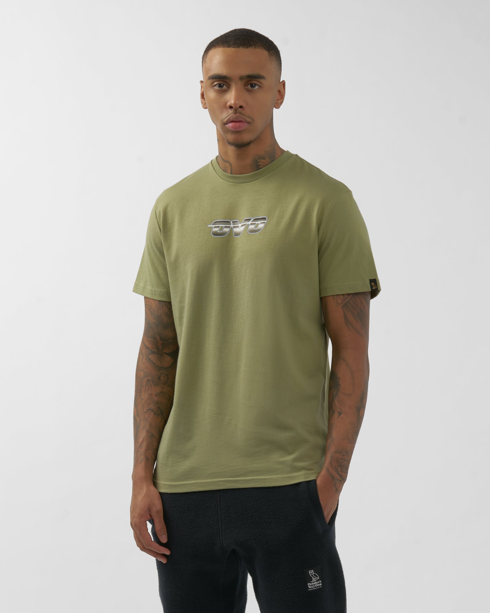 CHROME RUNNER T-SHIRT - OLIVE IMAGE #3