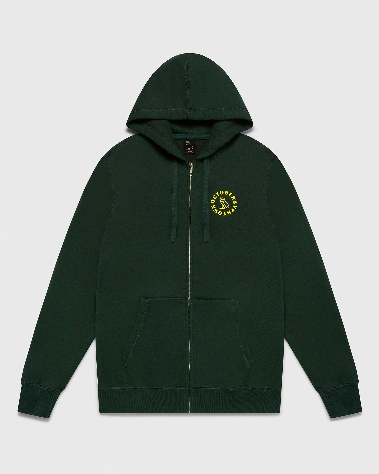 CIRCLE ZIP HOODIE - EVERGREEN IMAGE #2