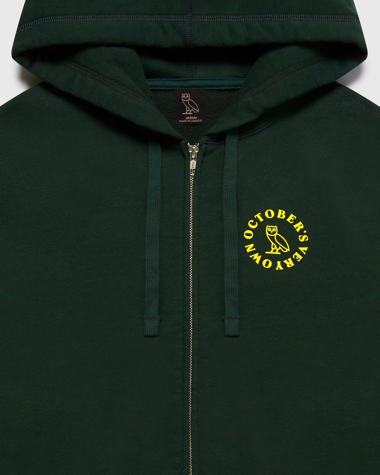 CIRCLE ZIP HOODIE - EVERGREEN IMAGE #3