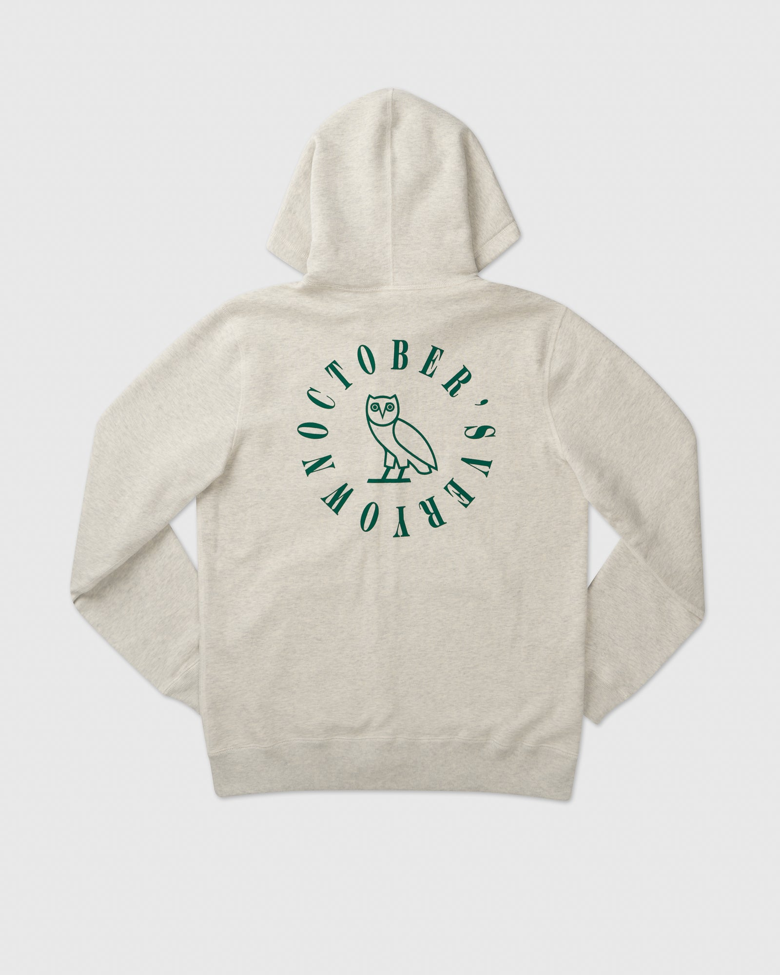 CIRCLE WORDMARK PATCH FULL-ZIP HOODIE - EGGSHELL HEATHER IMAGE #4