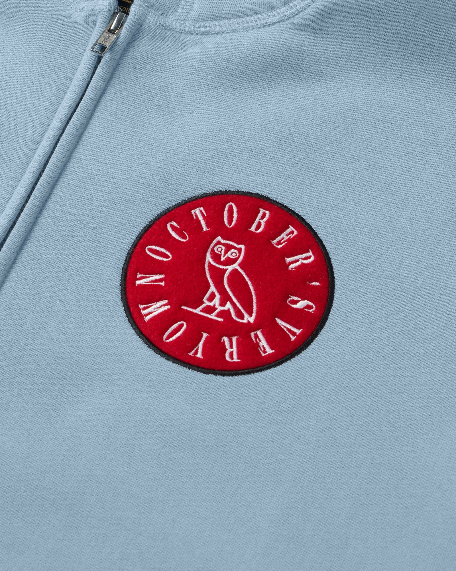 CIRCLE WORDMARK PATCH FULL-ZIP HOODIE - SKY BLUE IMAGE #2