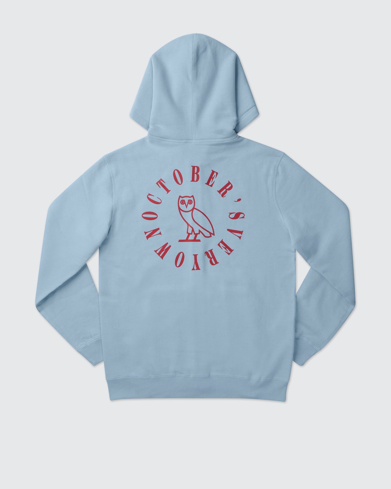 CIRCLE WORDMARK PATCH FULL-ZIP HOODIE - SKY BLUE IMAGE #4