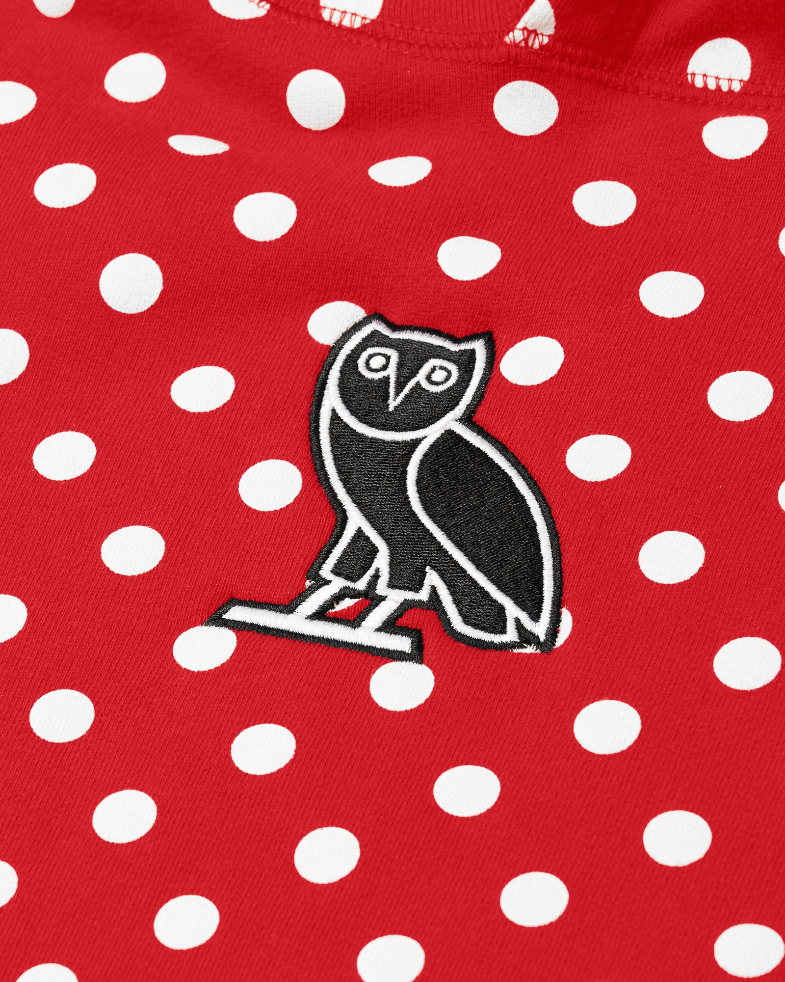 CLASSIC OWL HOODIE - RED POLKA DOT IMAGE #2