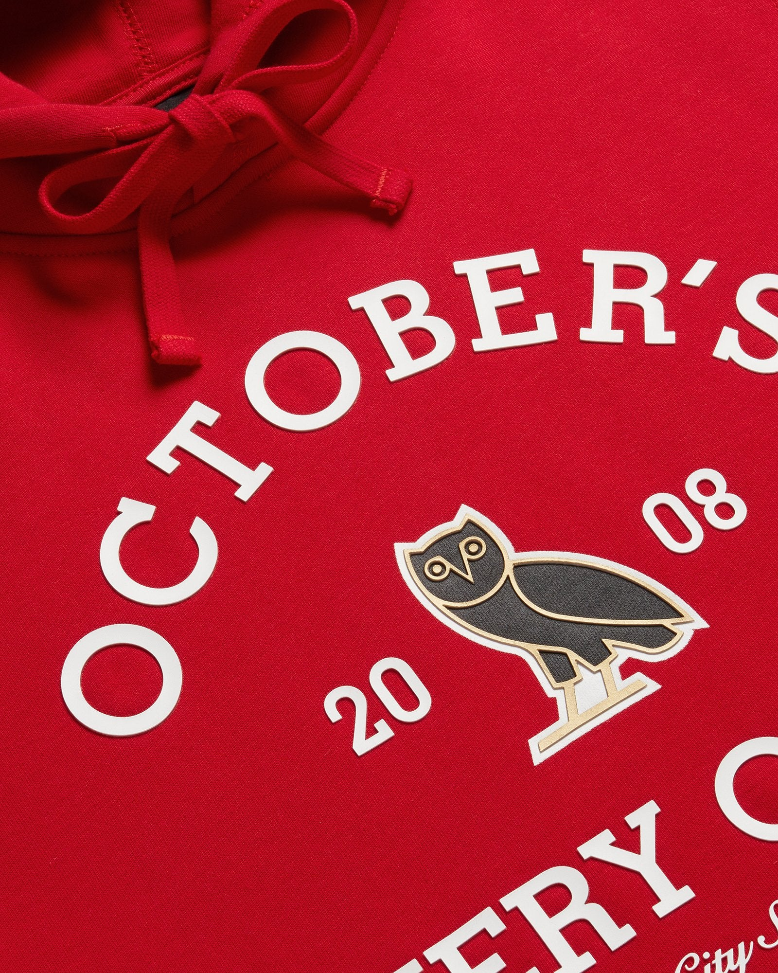 OVO COLLEGIATE HOODIE - RED IMAGE #4