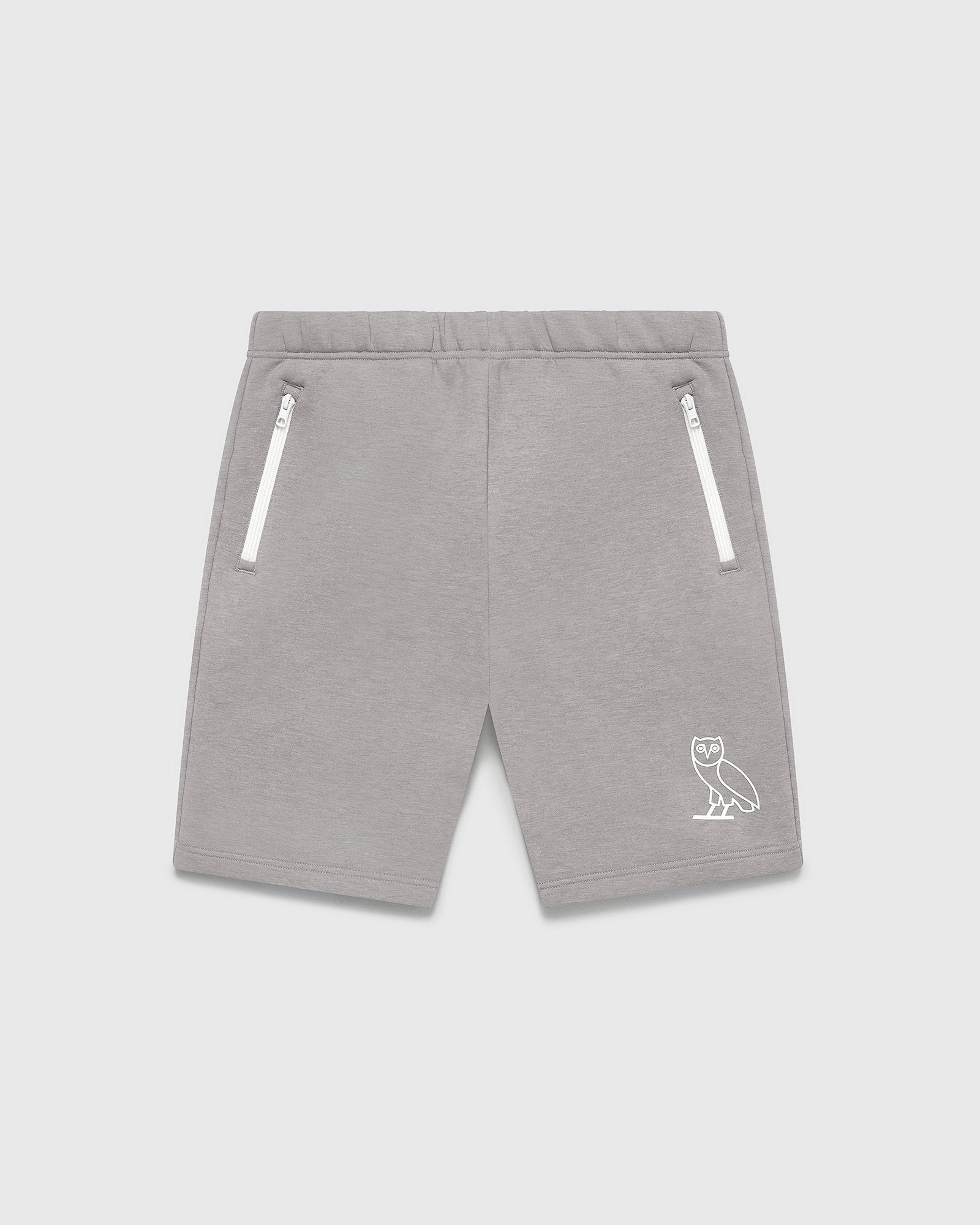 DOUBLE KNIT TRACK SHORT - STORM GREY IMAGE #1