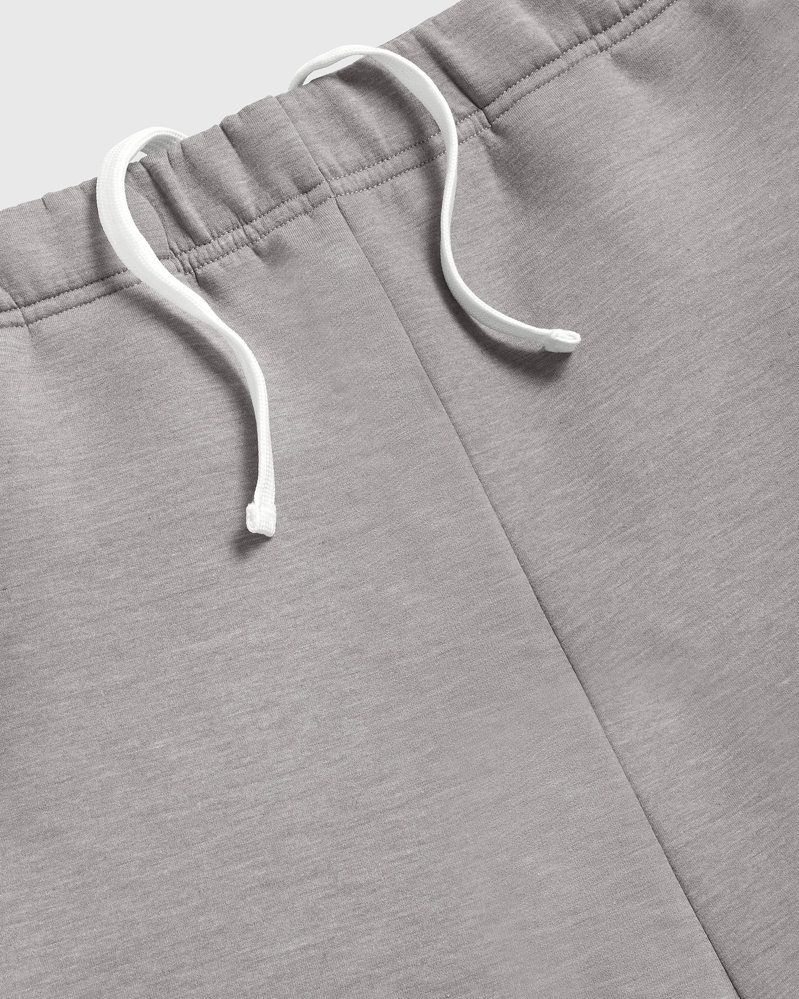 DOUBLE KNIT TRACK SHORT - STORM GREY IMAGE #3