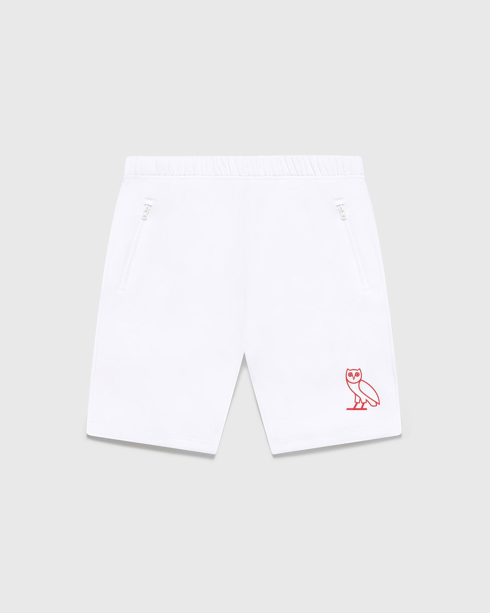DOUBLE KNIT TRACK SHORT - WHITE IMAGE #1