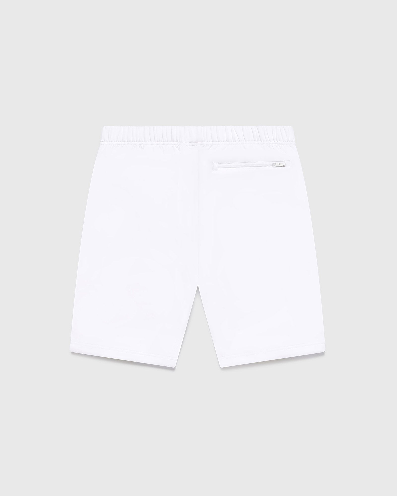 DOUBLE KNIT TRACK SHORT - WHITE IMAGE #2