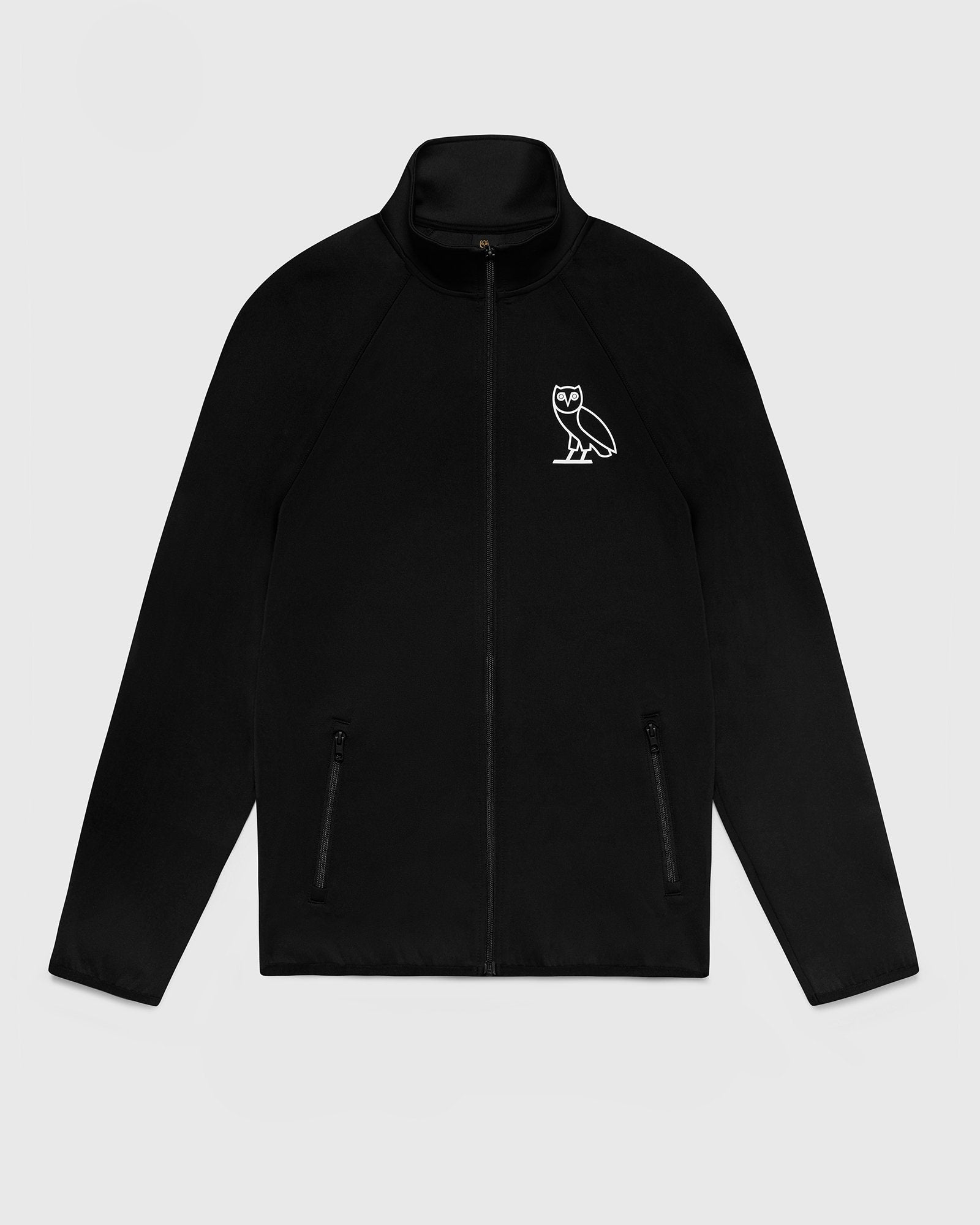 DOUBLE KNIT TRACK JACKET - BLACK IMAGE #1