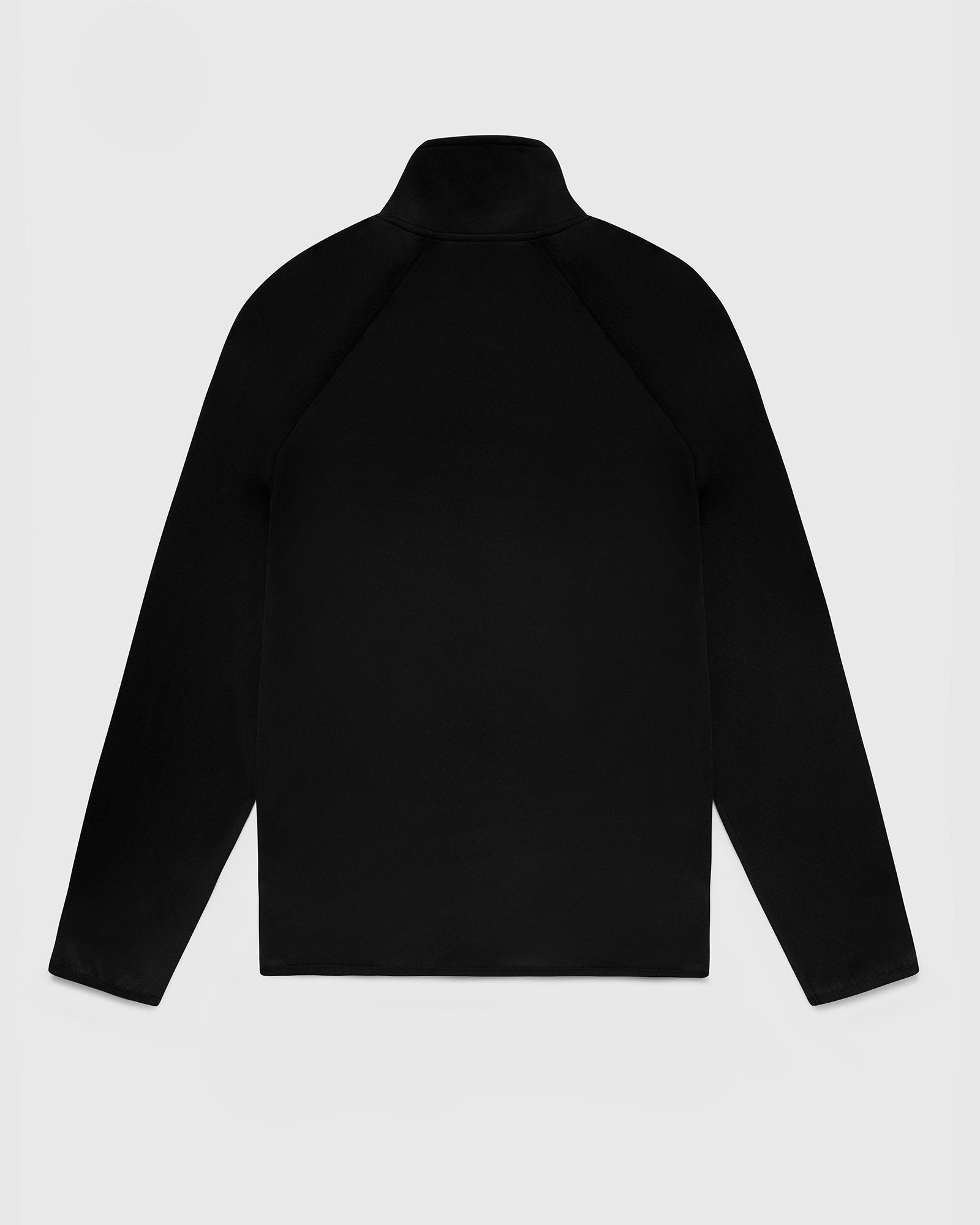 DOUBLE KNIT TRACK JACKET - BLACK IMAGE #2