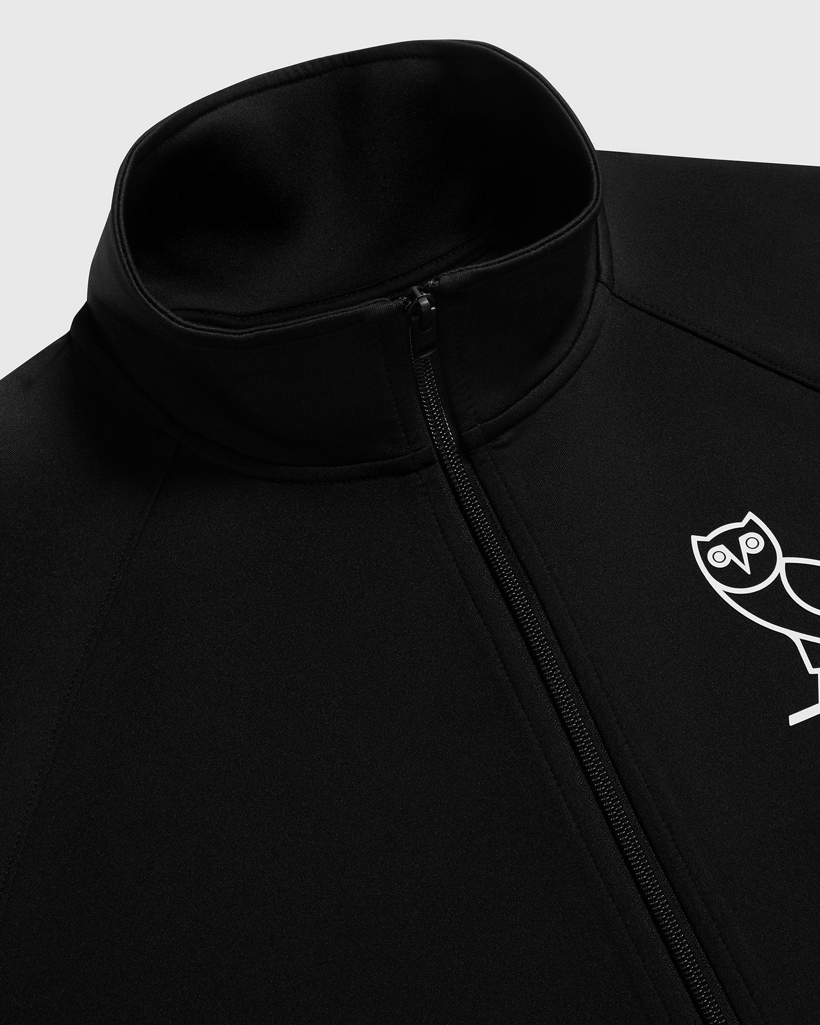 DOUBLE KNIT TRACK JACKET - BLACK IMAGE #3