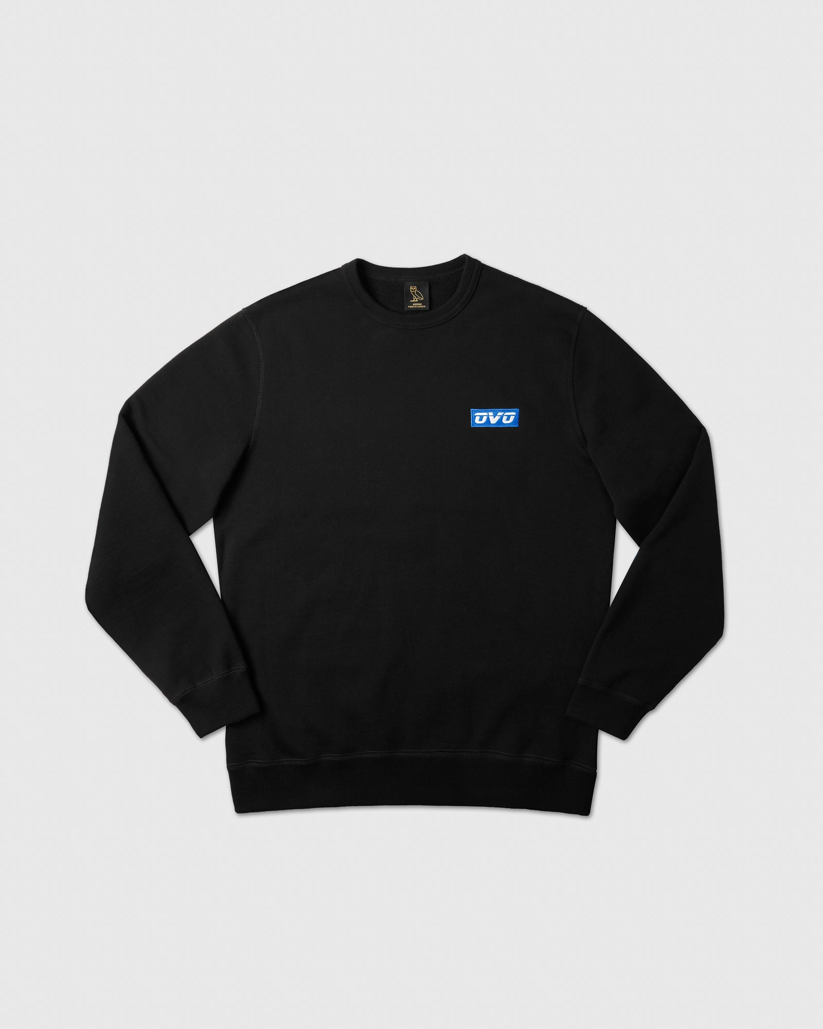 EMBROIDERED RUNNER LOGO CREWNECK - BLACK IMAGE #1