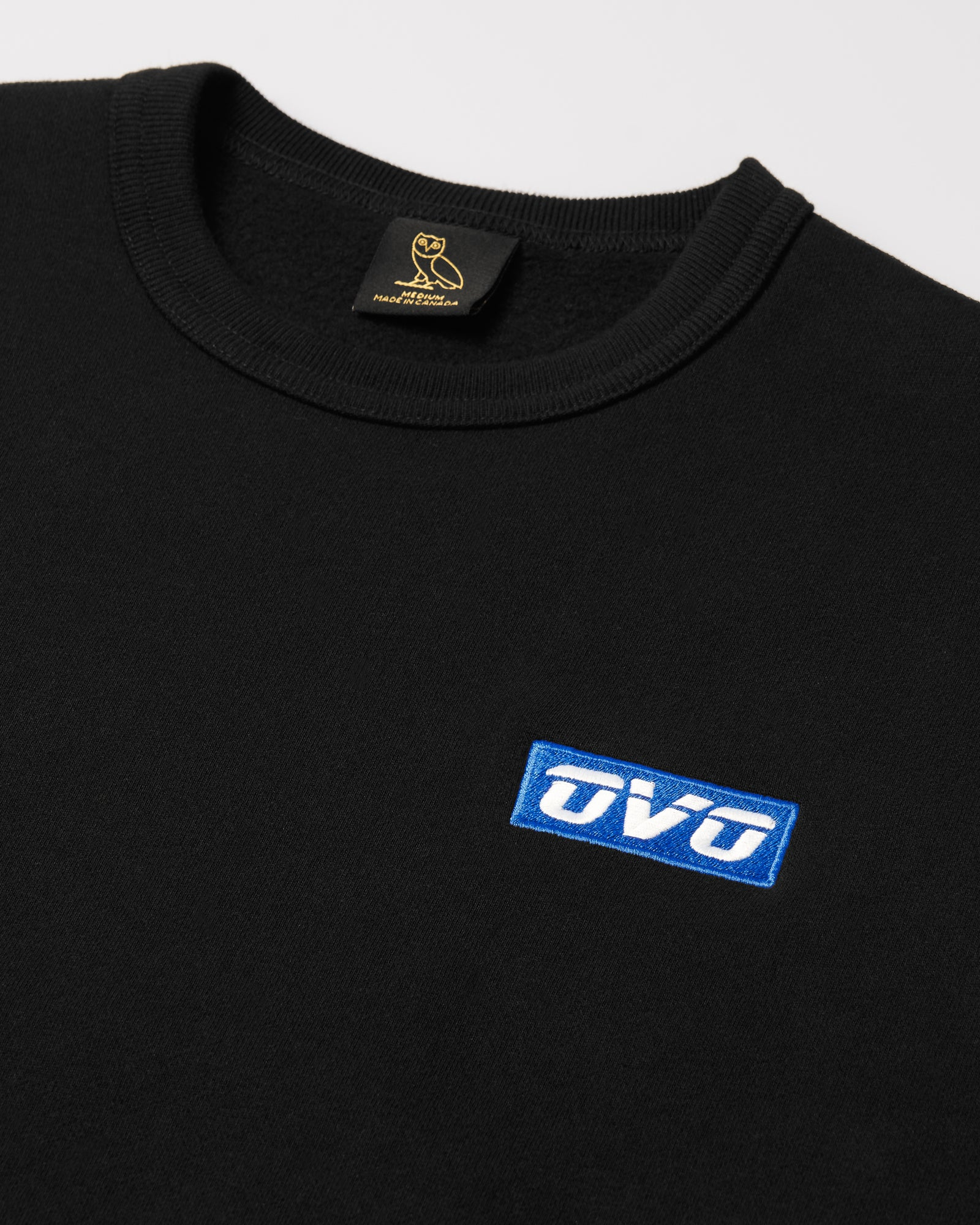 EMBROIDERED RUNNER LOGO CREWNECK - BLACK IMAGE #3