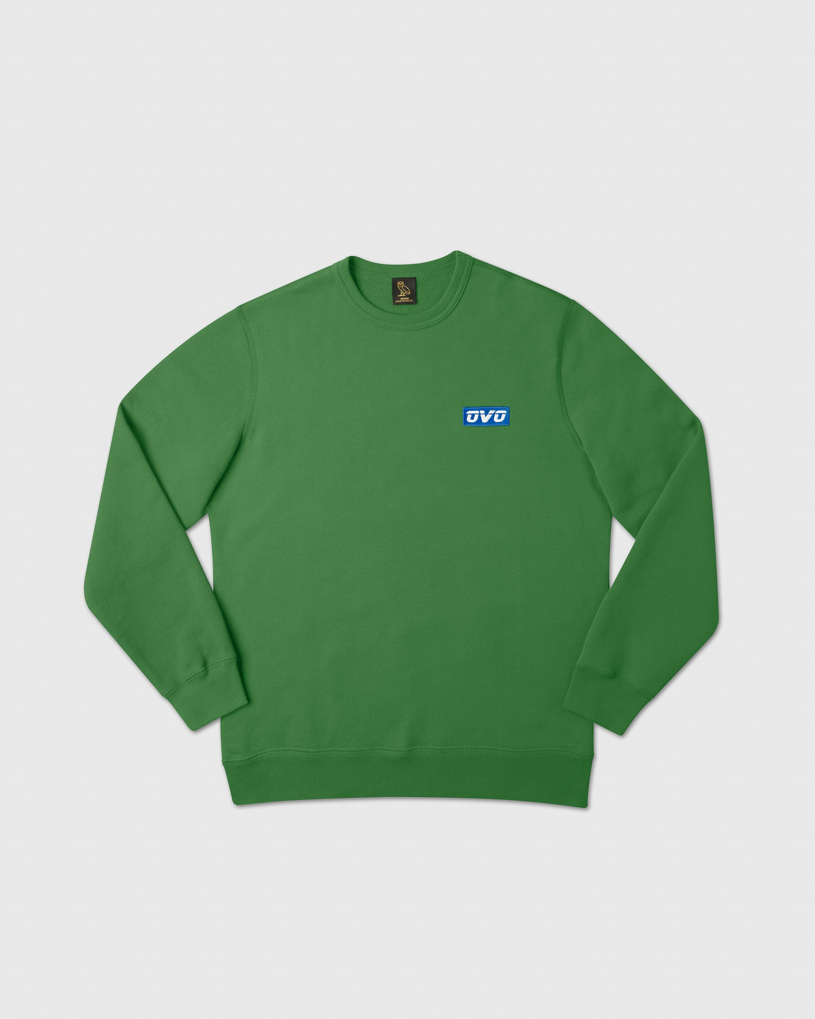 EMBROIDERED RUNNER LOGO CREWNECK - FERN IMAGE #1