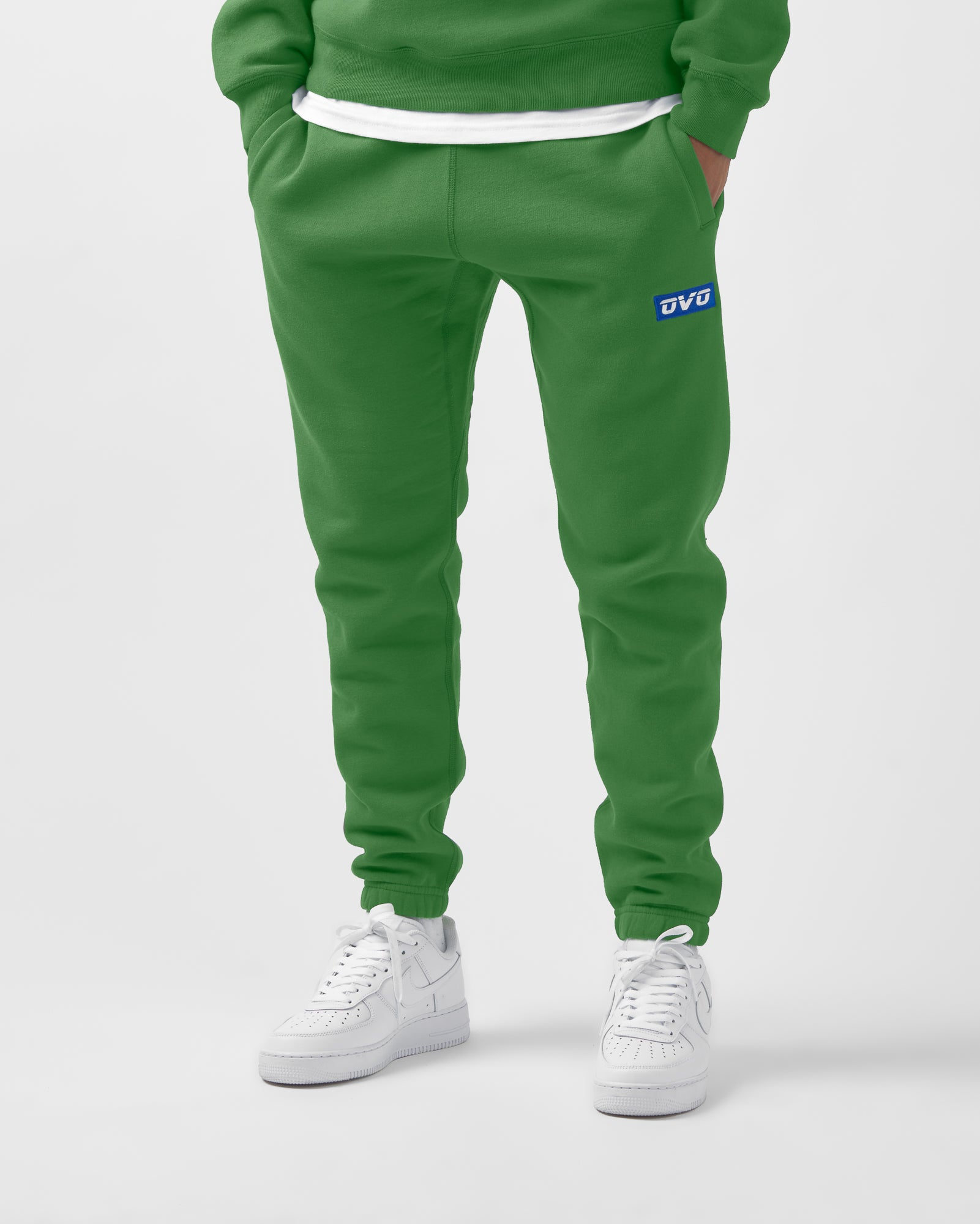 EMBROIDERED RUNNER LOGO SWEATPANT - FERN IMAGE #2