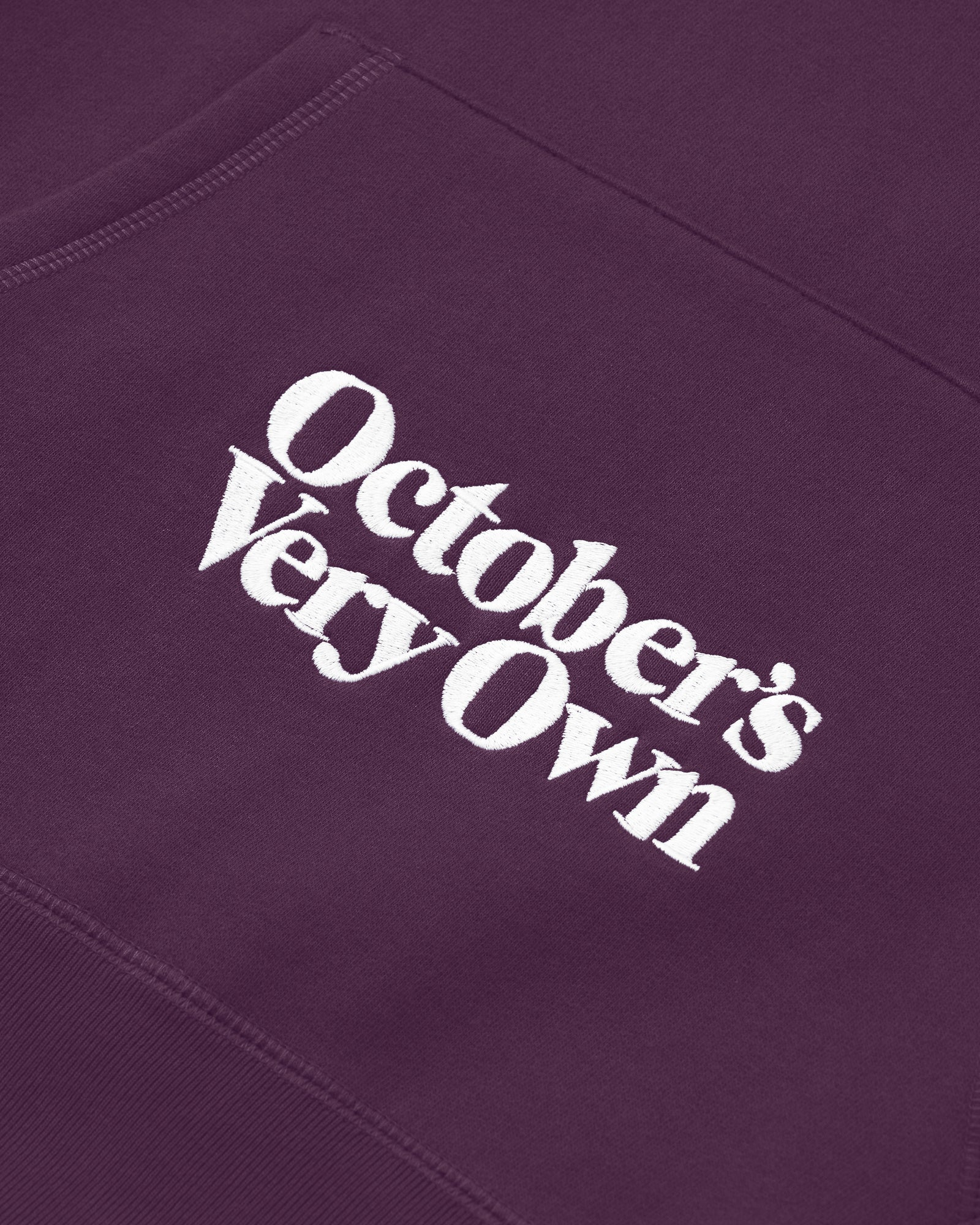 FAMILIA EMBROIDERED POCKET HOODIE - DARK PURPLE IMAGE #4