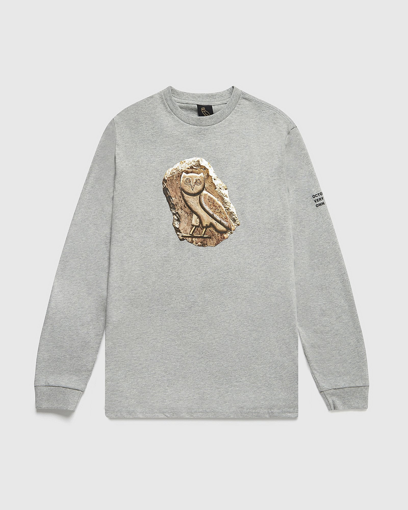 HIEROGLYPH LONGSLEEVE T-SHIRT - HEATHER GREY IMAGE #1