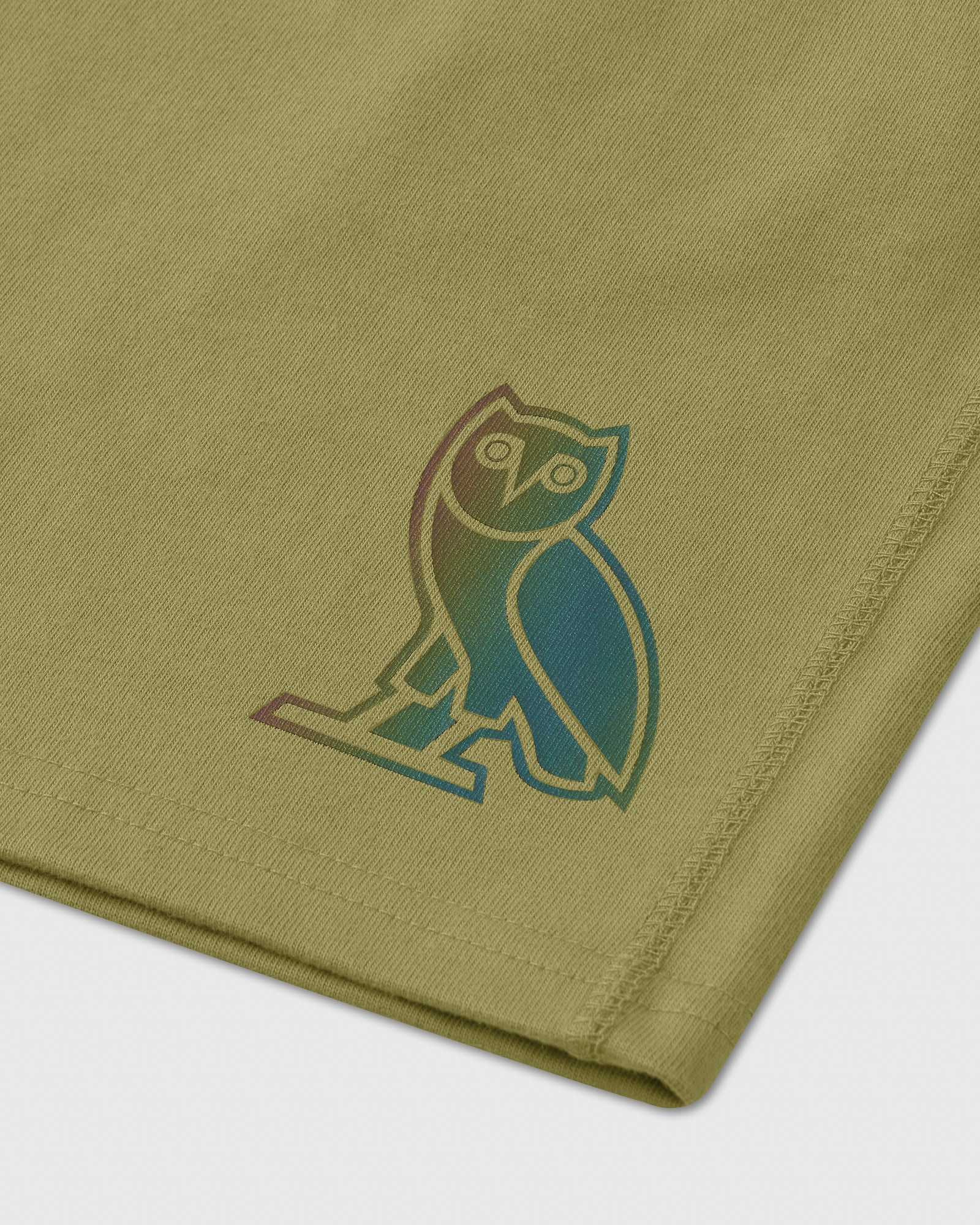 HOLOGRAM OWL SWEAT SHORT - VINE IMAGE #2