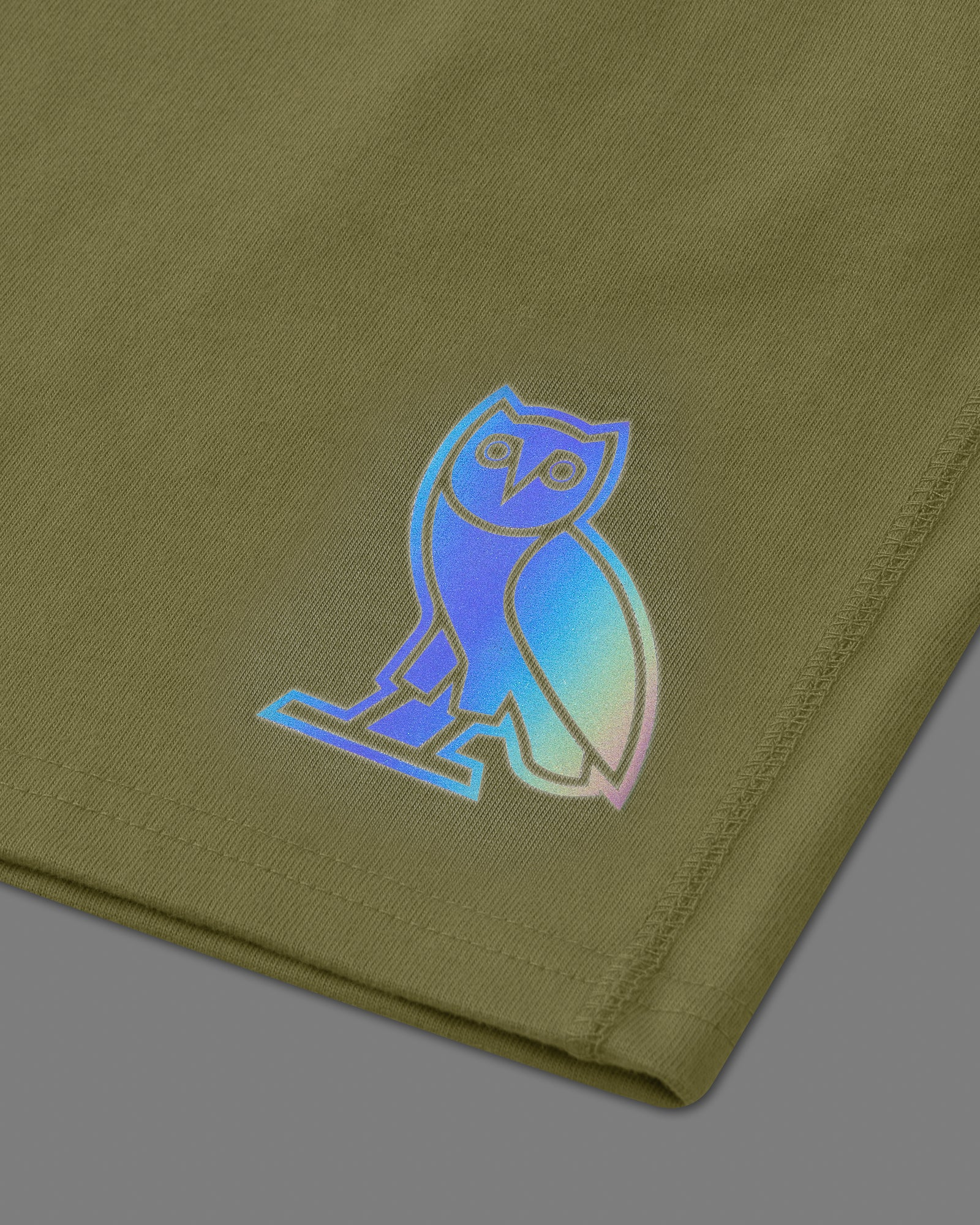HOLOGRAM OWL SWEAT SHORT - VINE IMAGE #3